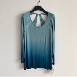 NEW Ombré turquoise dip-dyed shirt